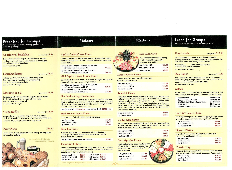 Mountain Rose Cafe Menu